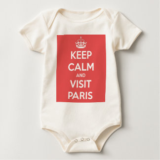 Keep Calm and Visit Paris Baby Bodysuit