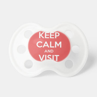 Keep Calm and Visit Paris Baby Pacifiers