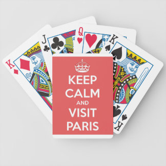 Keep Calm and Visit Paris Bicycle Playing Cards