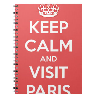 Keep Calm and Visit Paris Notebooks