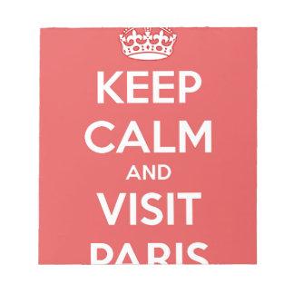 Keep Calm and Visit Paris Notepad