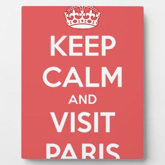 Keep Calm and Visit Paris Plaque