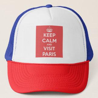 Keep Calm and Visit Paris Trucker Hat