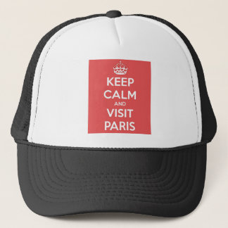 Keep Calm and Visit Paris Trucker Hat