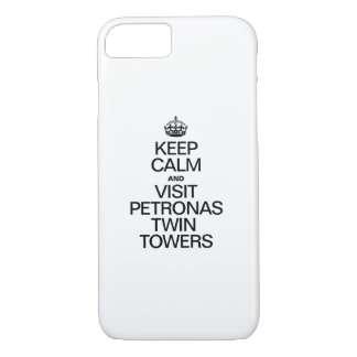 KEEP CALM AND VISIT PETRONAS TWIN TOWERS iPhone 8/7 CASE