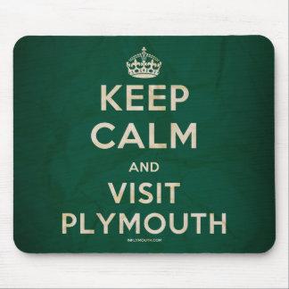 'Keep Calm and Visit Plymouth' Mousemat Mouse Pad