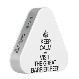 KEEP CALM AND VISIT THE GREAT BARRIER REEF BLUETOOTH SPEAKER