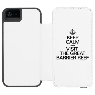 KEEP CALM AND VISIT THE GREAT BARRIER REEF INCIPIO WATSON™ iPhone 5 WALLET CASE