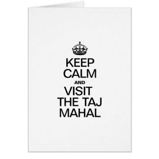 KEEP CALM AND VISIT THE TAJ MAHAL CARD