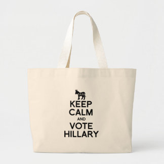 KEEP CALM AND VOTE HILLARY.png Jumbo Tote Bag