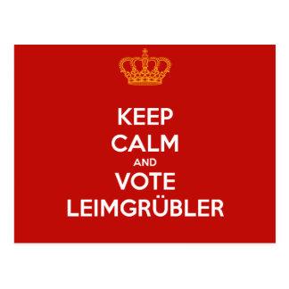 Keep Calm and VOTE Leimgrübler postcard
