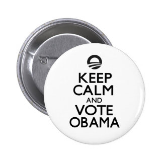 Keep Calm and Vote Obama 2 Inch Round Button