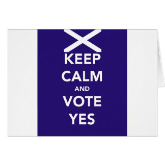 Keep calm and vote yes card