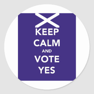 Keep calm and vote yes classic round sticker