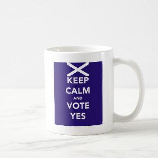Keep calm and vote yes coffee mug