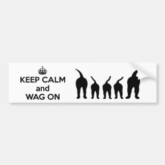 KEEP CALM and WAG ON Bumper Sticker