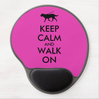 Keep Calm and Walk On Dog Walking Labrador Gel Mouse Pad