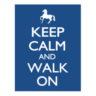 Keep Calm and Walk On Postcard