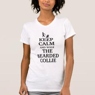 Keep calm and walk the bearded collie T-Shirt