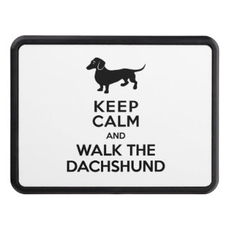 Keep Calm and Walk the Dachshund - Cute Doxie Tow Hitch Covers