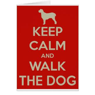 Keep Calm and Walk the Dog Card