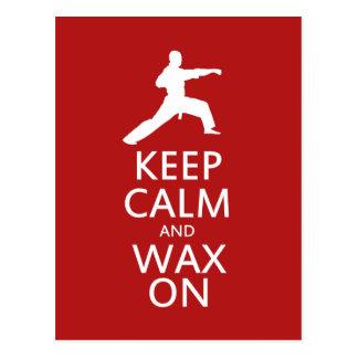 Keep Calm and Wax On Postcard