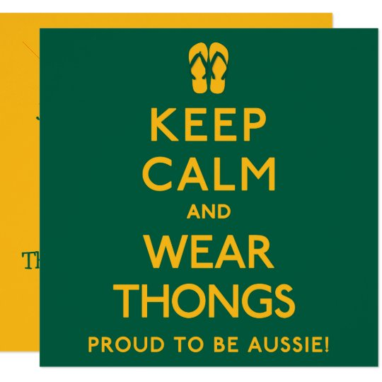 Keep Calm and Wear Thongs! Card