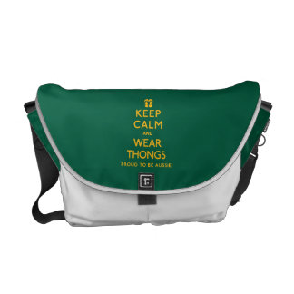 Keep Calm and Wear Thongs! Commuter Bags