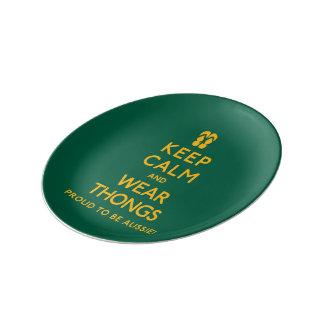 Keep Calm and Wear Thongs! Plate