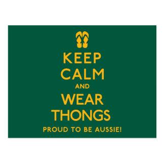 Keep Calm and Wear Thongs! Postcard