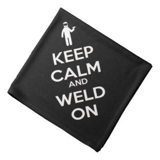 Keep Calm and Weld On Bandana