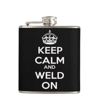 Keep Calm and Weld On Flask