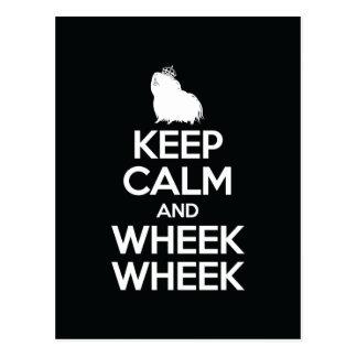 Keep Calm and Wheek Wheek Postcard