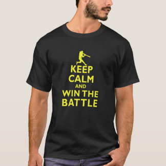 Keep Calm and Win the Battle Fastpitch T-Shirt