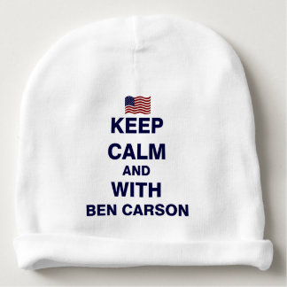 Keep Calm and With Ben Carson Baby Beanie