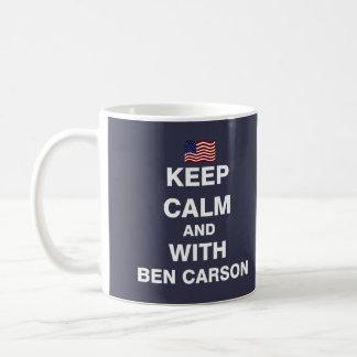 Keep Calm and With Ben Carson Coffee Mug