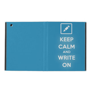 Keep Calm and Write On iPad 2,3,4 Case iPad Cover