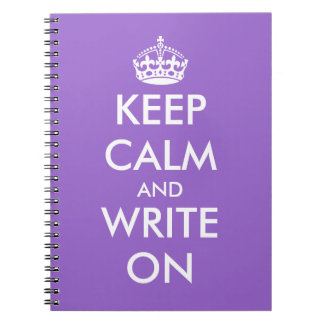 Keep calm and write on notebook | Customizable