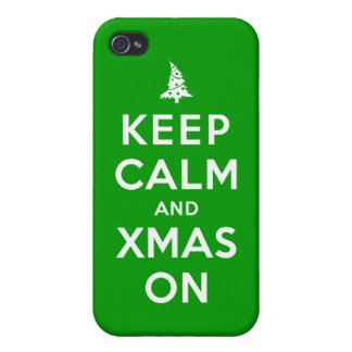 Keep Calm and Xmas On Covers For iPhone 4