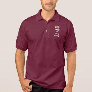 Keep Calm and Yell Bingo Polo Shirt
