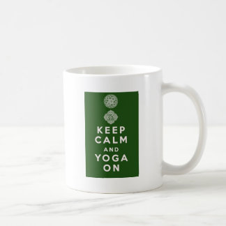 Keep Calm and Yoga On Coffee Mug
