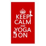 Keep Calm and Yoga On (customize colours)