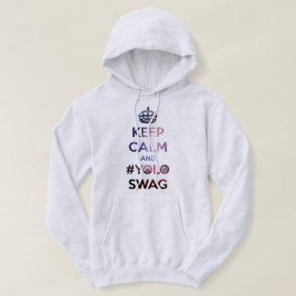 Keep calm and #yoloswag hoodie