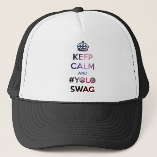 Keep calm and #yoloswag trucker hat