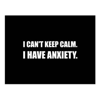 Keep Calm Anxiety Postcard