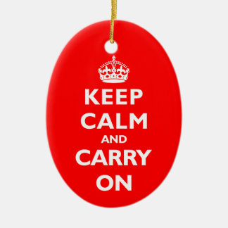 Keep Calm- Any Colour Ceramic Ornament