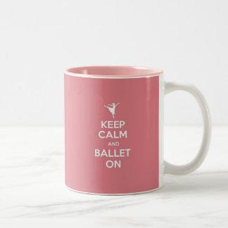 Keep Calm & Ballet On Two-Tone Coffee Mug