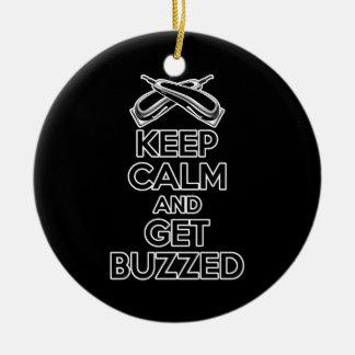 Keep Calm: Barber Humor Ceramic Ornament