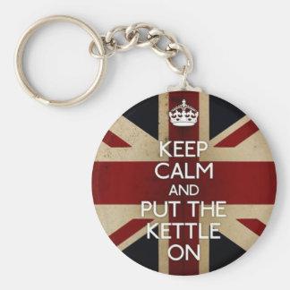 Keep Calm Basic Round Button Keychain