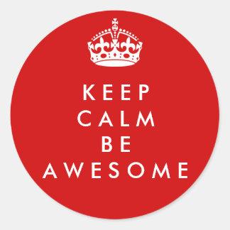 Keep Calm Be Awesome sticker